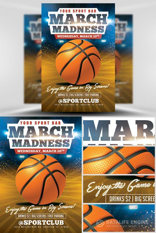 Best  Basketball Flyer Template Psd For Tournament Camp And