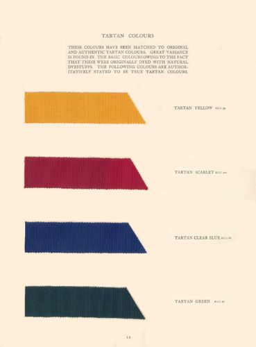 Traditional British Colours - tartan 1937 Traditional British Colours was issued by the British Colour Council in commemoration of the Coronation of His Majesty King Geo...