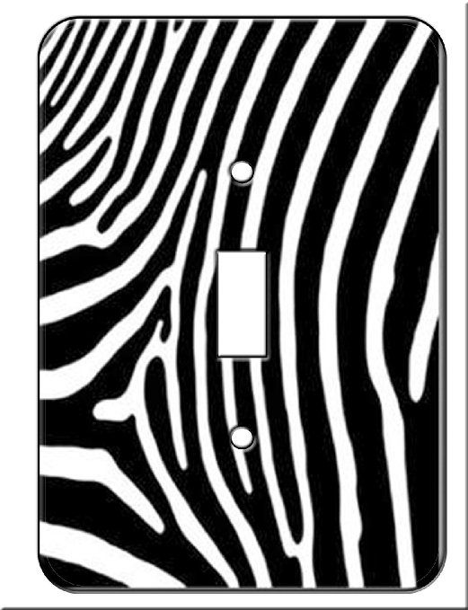 Amazon.com: Zebra Skin Print Wall Plate Switchplate Cover Single Toggle  Switch Plate Lightswitch