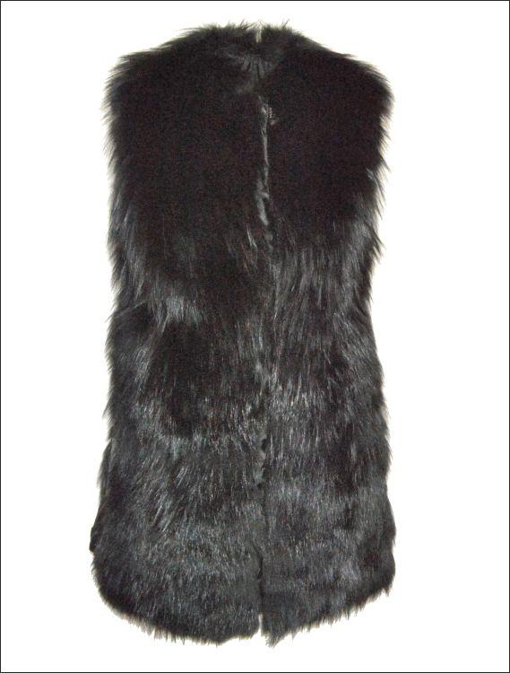 Γυναικείο γούνινο γιλέκο Γούνα: black fox Τιμή: 540€