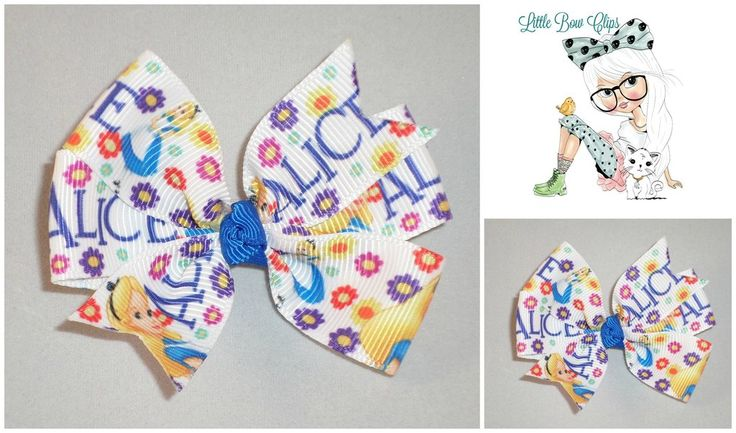 Alice In Wonderland Traditional Bow Hair Clip