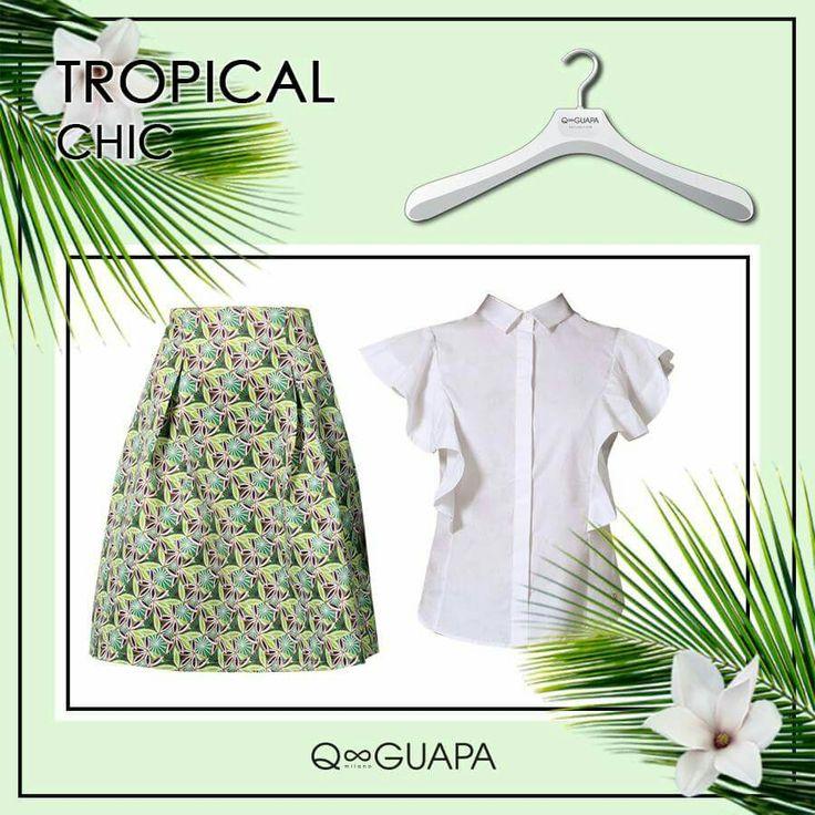 "Fantasia ""tropical"" nella nuance verde menta! gonna Lunas Fantasy/camicia Nicole *presto disponibili anche online* #tropical #fantasy #springsummer"