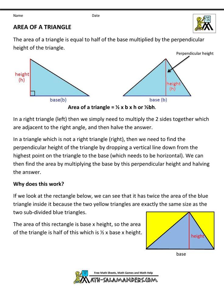 Best 25 triangle formula area ideas on pinterest circle area geometry formulas triangles area of a triangle ccuart Gallery