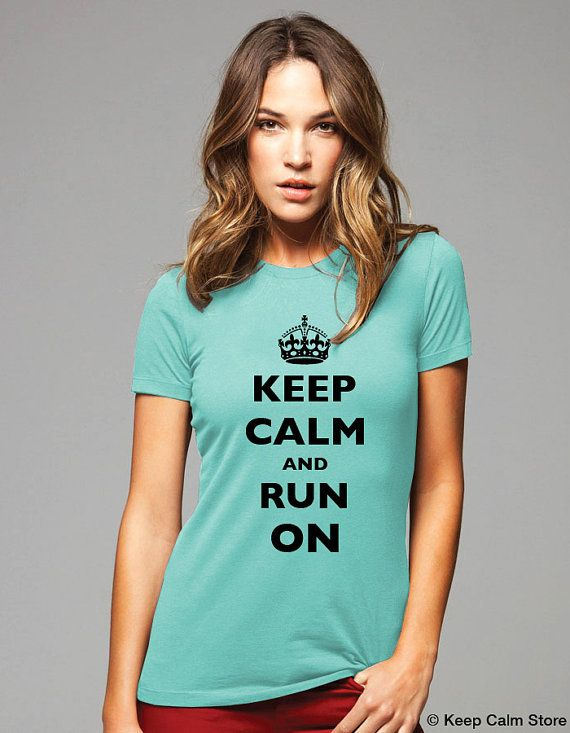 Keep Calm and Run on with crown TShirt  Printed by keepcalmstore, $19.99