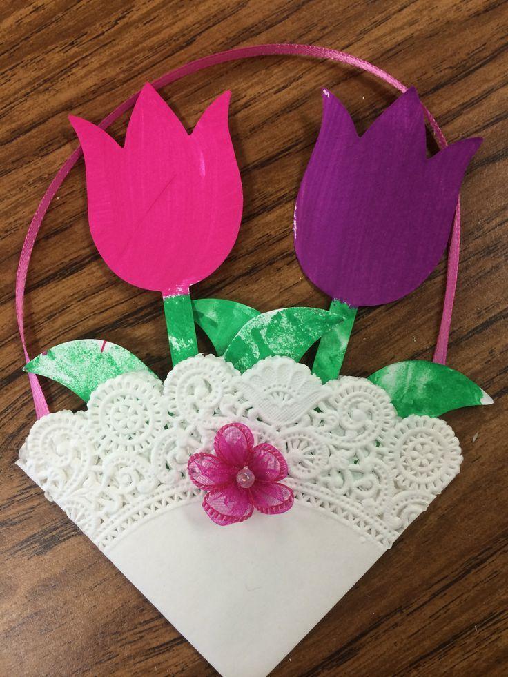 Flower basket #kidscraftsideas