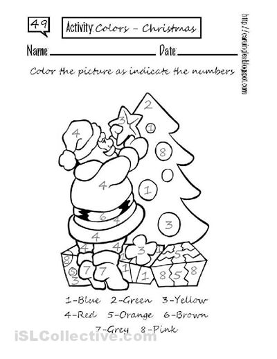 Colour By Number Worksheets Christmas : 18 best holiday coloring images on pinterest
