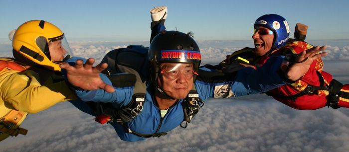 Call me crazy, but I want to go sky diving.