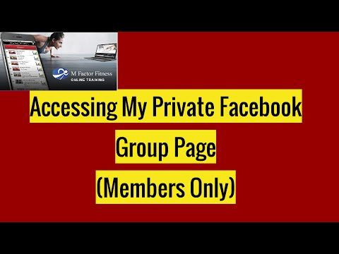 how to look at a private facebook page