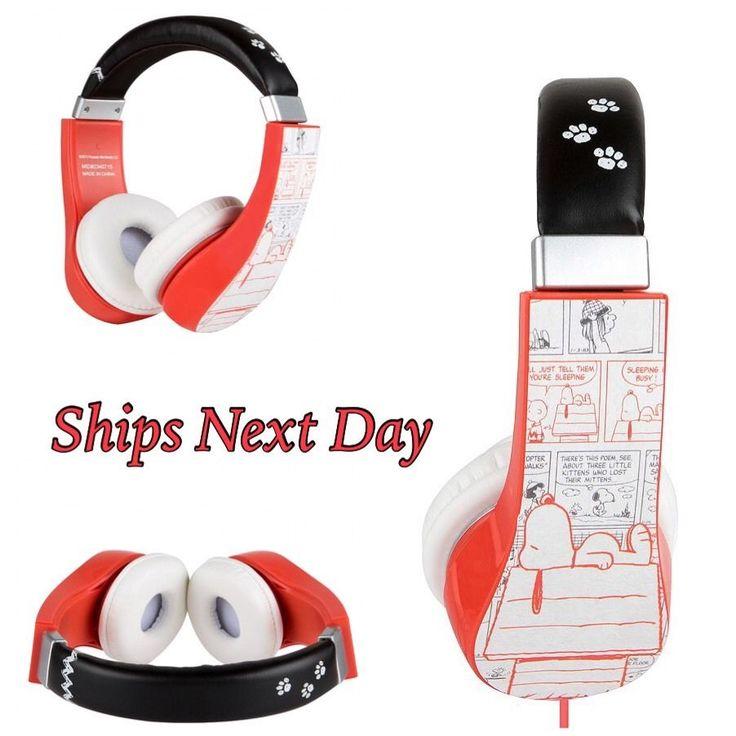 New Peanuts Snoopy Comic Kids Headphones w Volume Limiter | eBay
