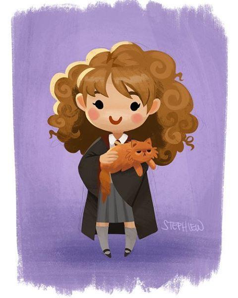 Hermione and Crookshanks by staypee on DeviantArt