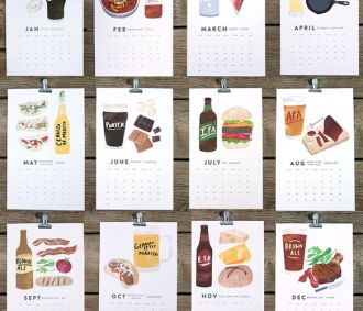 Beer & Food 2013 Calendar...I wish I drank beer so I could appreciate this more!