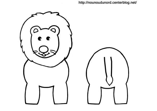 Coloriage lion  pour rouleau de papier wc