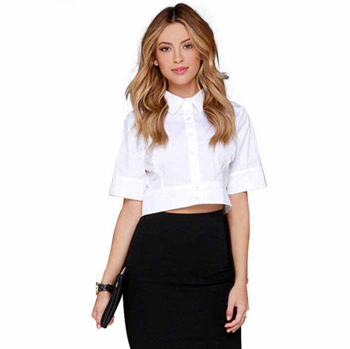Короткие модные белые