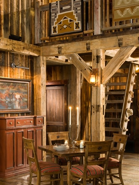Montana Mountain Retreat| - party barn and guest house from Heritage Restorations