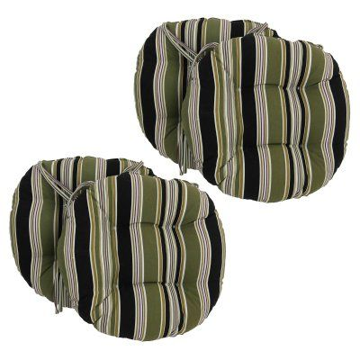 Blazing Needles 16 x 16 in. Round Outdoor Dining Chair Cushions with Ties - Set of 4 Montfleuri Sangria - 916X16RD-T-4CH-REO-32