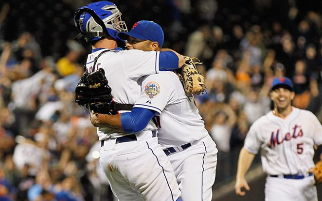 Johan Santana pitched the first no-hitter in Mets history in beating the Cardinals 6/1/12
