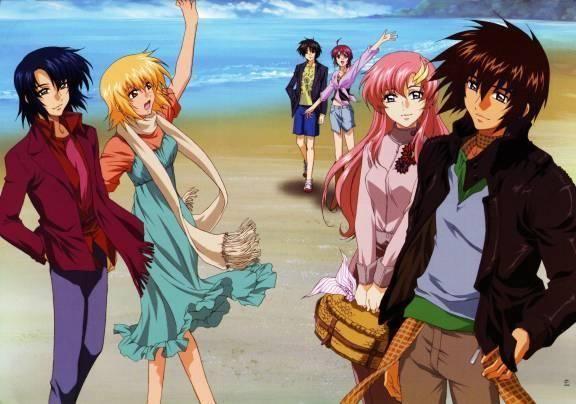 Athrun, Cagalli, Shin, Luna, Lacus & Kira