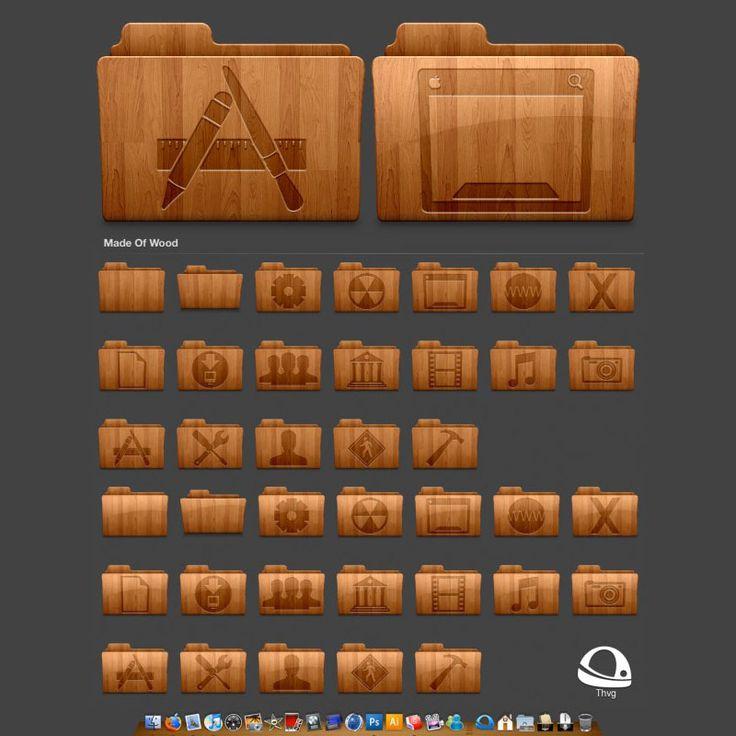 Wood Retro Folder icons (Pngs):