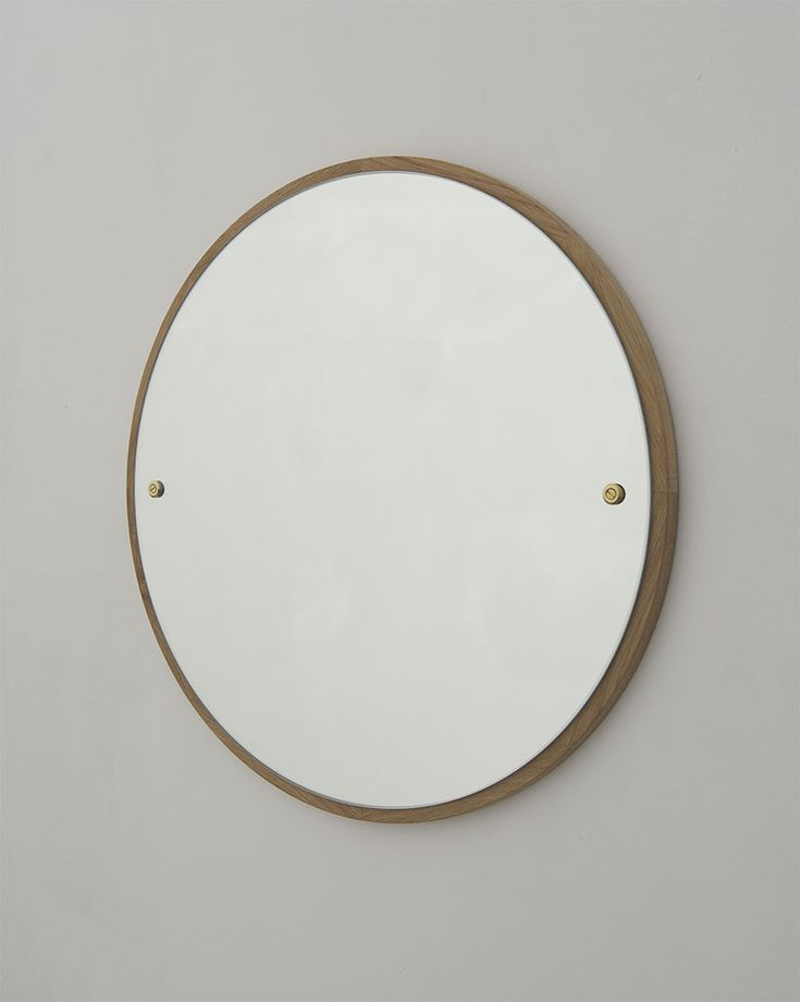 CM-1 Mirror 60cm | Oak / Mirror / Brass | Design by Frama | Photographed by Michael Falgren