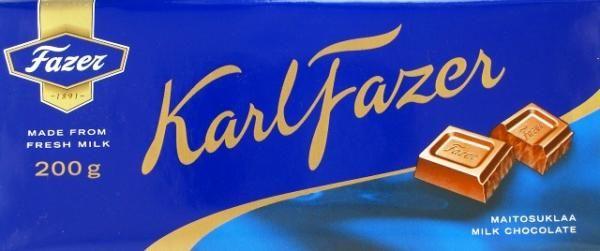 FAZER BLUE MILK CHOCLATE BAR 200G