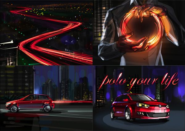 Storyboard (cars) on the Behance Network