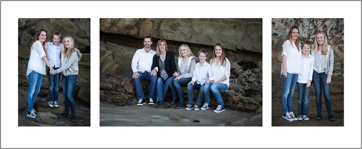 Family Portrait Triptych at Castor Bay beach - North Shore City by Ilan Wittenberg