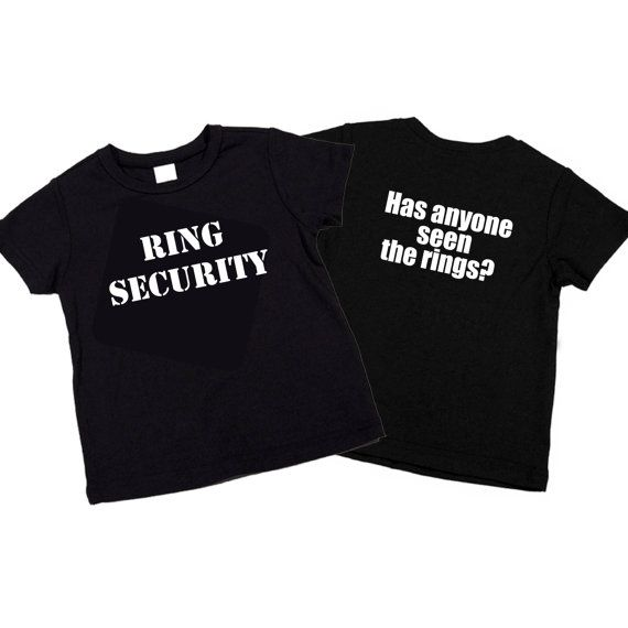 Funny Ring Security / Ring Bearer T-shirt. Has Anyone seen the rings? by funkycoolthreads