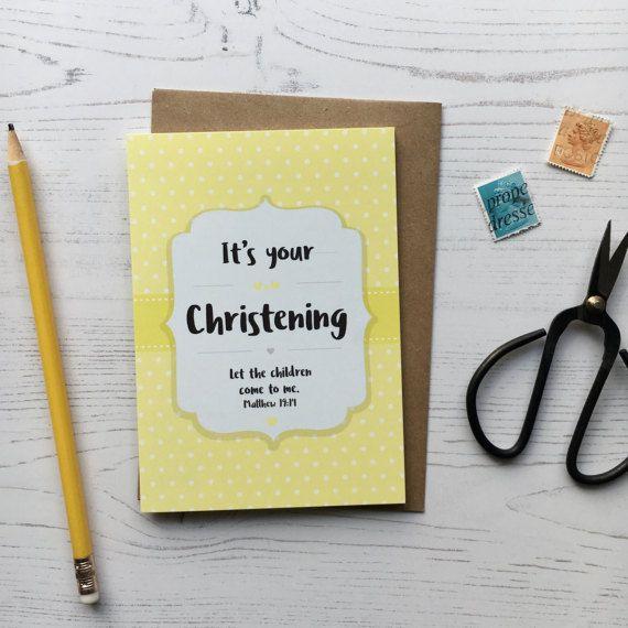 Baby Christening Card  Christening Card  Christening Gift