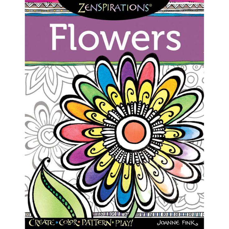 ZenspirationsTM Flowers Coloring Book