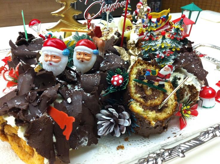 Homemade Buche de Noel.