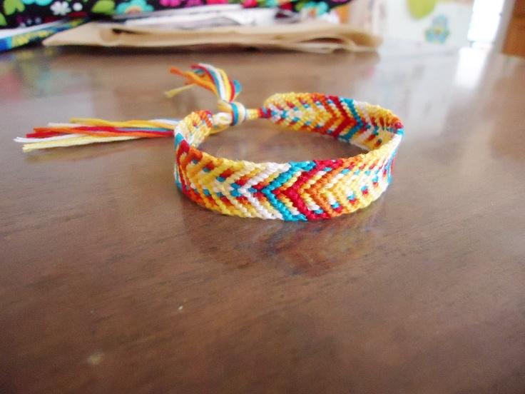 Fishbone Style Friendship Bracelet. $8.00, via Etsy.