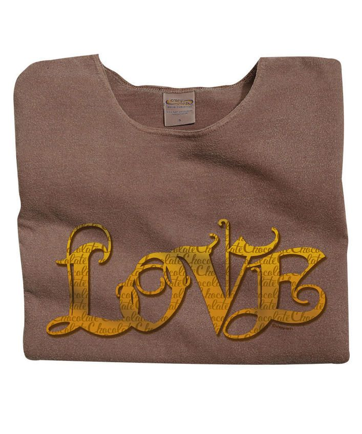 Letter of Love - Chocolate-Dyed Scoop-Neck T-Shirt