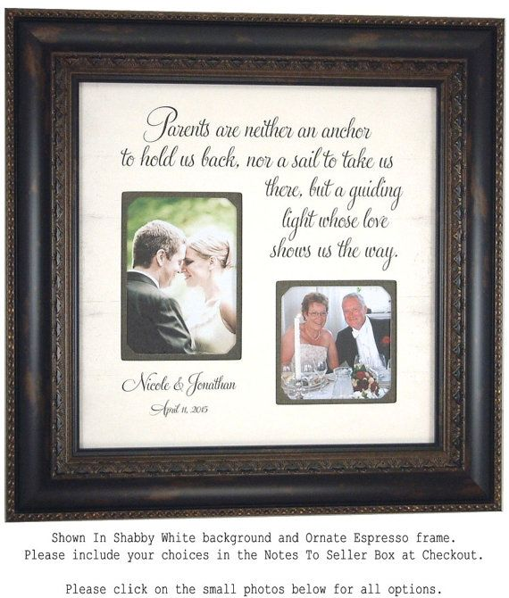 Parents Wedding Gift Thank You For By PhotoFrameOriginals