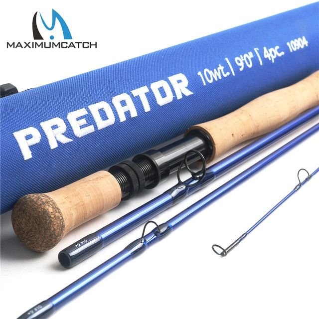 Maximumcatch Predator 9ft 8wt 9wt 10wt 12wt Saltwater Fly Fishing Rod 4 Section 30t Sk Carbon Fly Rod With Cordura Rod Tube Review Saltwater Flies Fishing Rod Fly Rods
