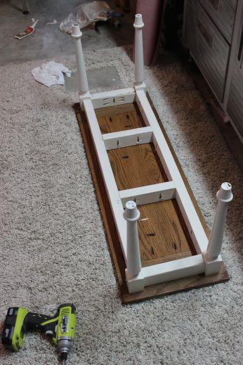 DIY Elegant Oak Farmhouse Table
