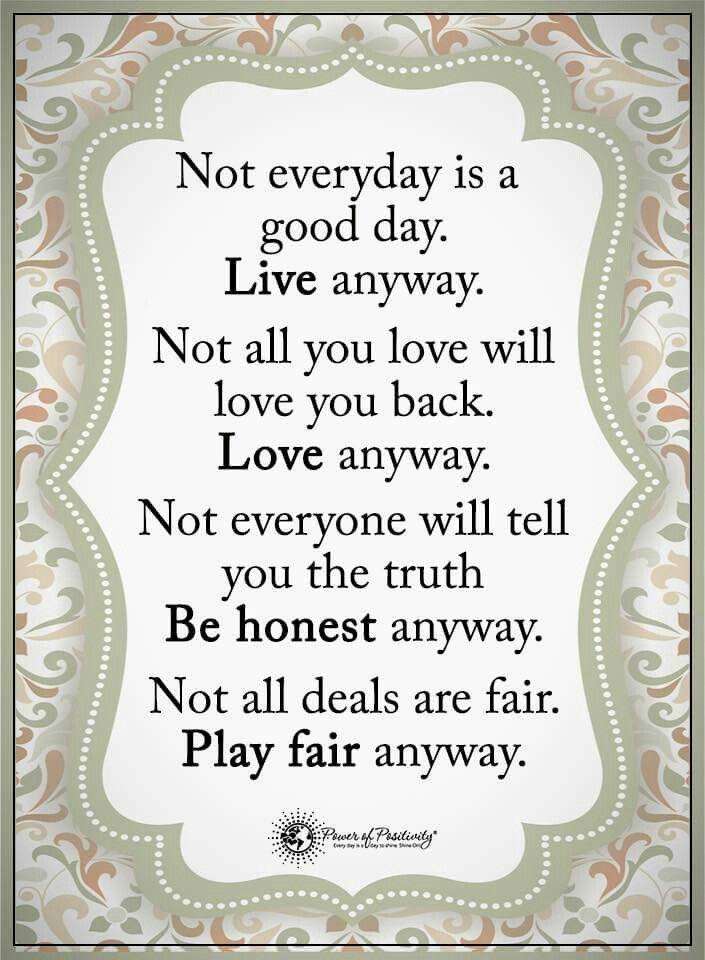 Play fair anyway
