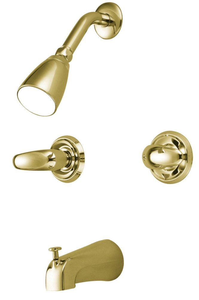 Kingston Brass KB242LL Tub & Shower Faucet, Polished Brass - Price: $112.95 & FREE Shipping over $99     #kingstonbrass