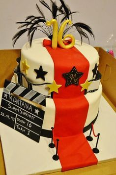 decoupage+movie+themed+cake+stand | hollywood red carpet sweet 16 cake - Cake Decorating Community ...