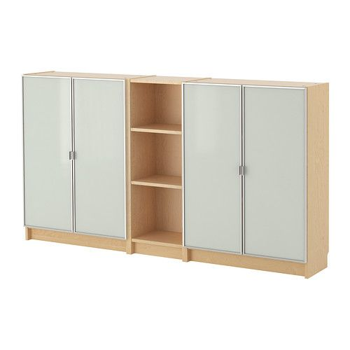 Billy morliden bookcase birch veneer ikea billy the for Ikea closed bookcases