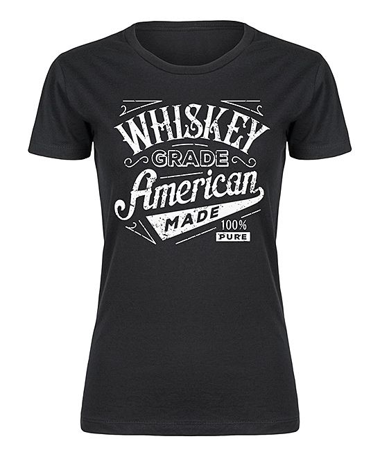 Black 'Whiskey Grade' Fitted Tee