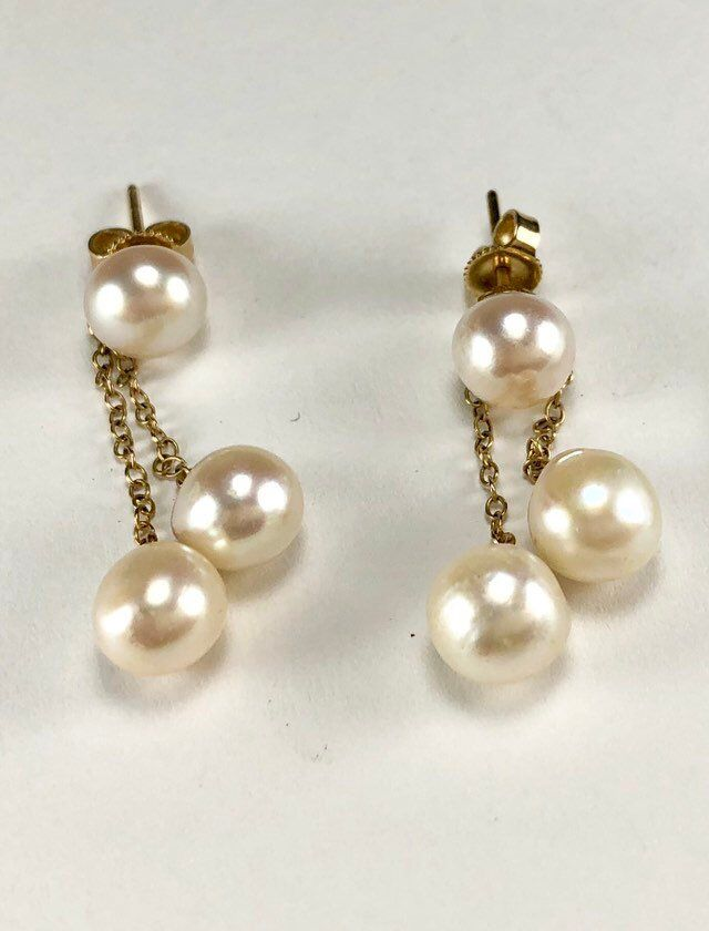 1b8d21f3422 Excited to share the latest addition to my  etsy shop  14k Gold Pearls Drop  Dangle Earrings High Luster Baroque Pearls Lovely Lovely Earrings Post  Style for ...