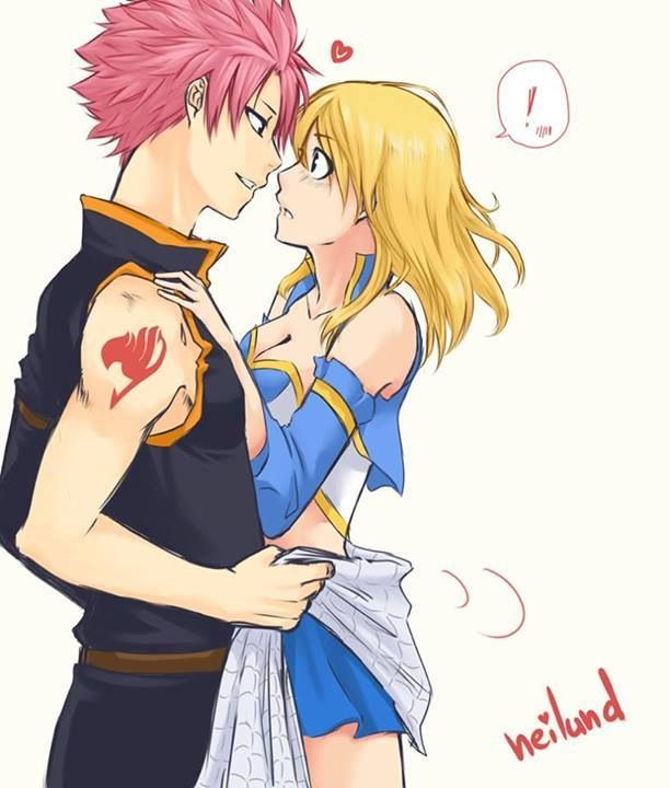Fairy Tail, Natsu and Lucy- I love how he uses the scarf ...