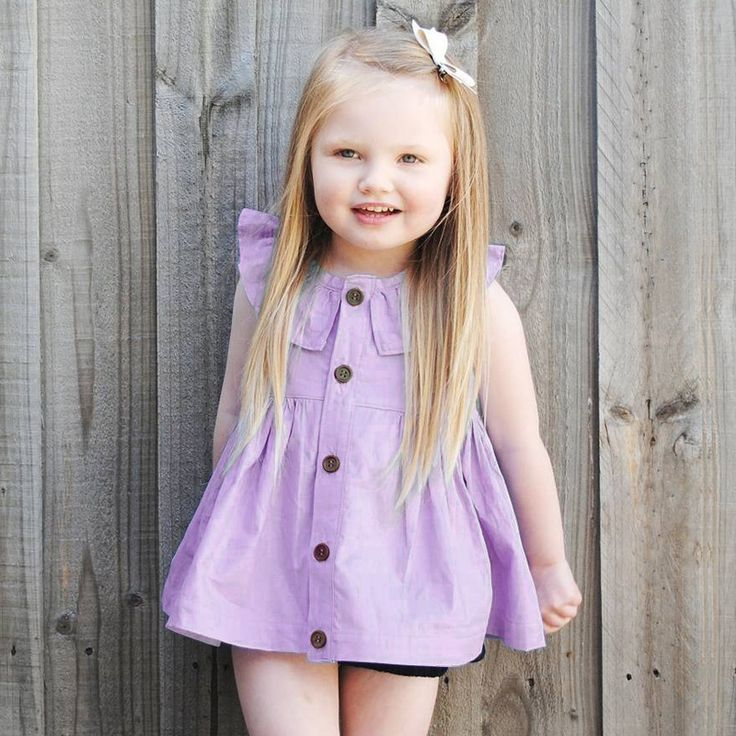 ==> [Free Shipping] Buy Best 2017 Spring Summer Baby Dress Casual Style Baby Girls Dress Reversible Baby Purple Mini Dress Down Collar Baby Girl Clothes Online with LOWEST Price | 32795548915