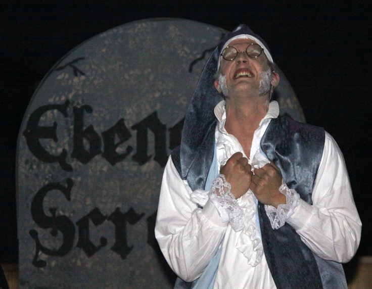 Joseph Wilson as Ebenezer Scrooge — at Briercrest College and Seminary.