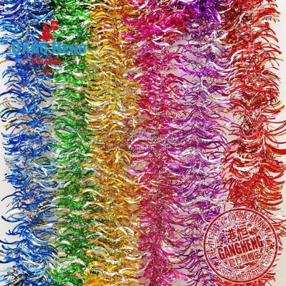 2015New 200 см/шт. 20 шт./лот рождественских деревьев лента двойной цвета повесить украшения Цветные полосы оптовой R198
