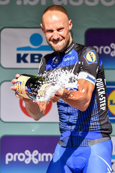 Brussels Cycling Classic 2016 Podium Tom BOONEN Celebration Champagne / Tim De Waele/ Getty...