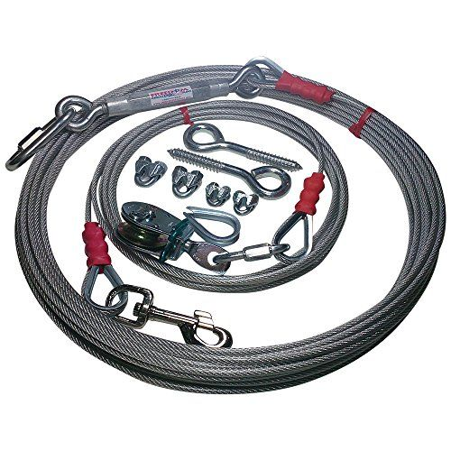 Freedom Pet Supply 25 Ft Aerial Dog Trolley Run Leash Harness Cable Overhead FDR-25
