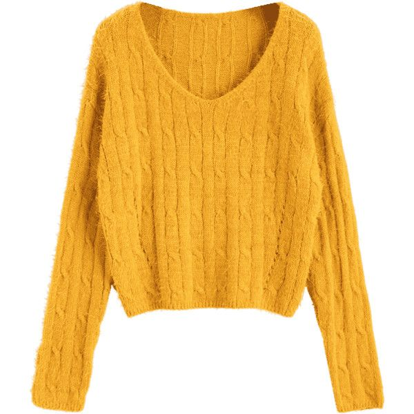 1b6dd96314d6 Textured Cropped Cable Knit Sweater Mustard (500 UYU) ❤ liked on Polyvore  featuring tops, sweaters, textured sweater, mustard top, mustard yellow  top, ...