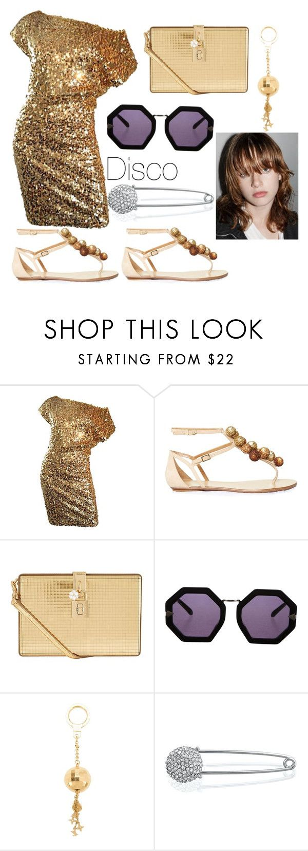 """Disco"" by canada-nickname ❤ liked on Polyvore featuring Paul & Joe, Aquazzura, Dolce&Gabbana, Karen Walker, Louis Vuitton and Bling Jewelry"