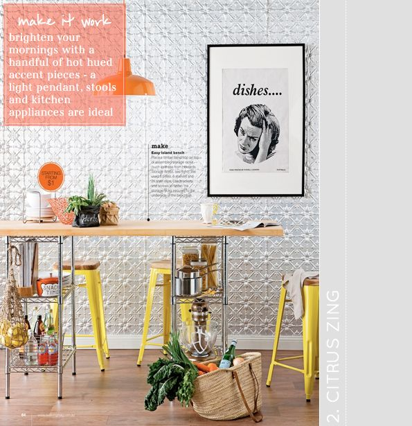 Citrus accents (Real Living; Styling by Erin Michael; Photography by Tony Amos)